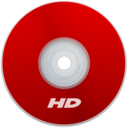 128x128px size png icon of HD Red