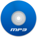 128x128px size png icon of Mp3 Blue