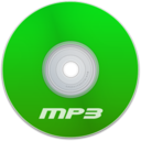128x128px size png icon of Mp3 Green
