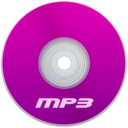 128x128px size png icon of Mp3 Purple