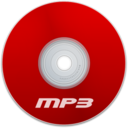 128x128px size png icon of Mp3 Red