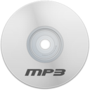 128x128px size png icon of Mp3 White