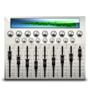 128x128px size png icon of audio mixing desk
