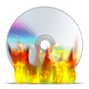 128x128px size png icon of cd burn
