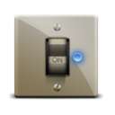 128x128px size png icon of switch on