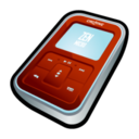 128x128px size png icon of Creative Zen Micro Red