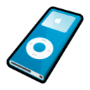 128x128px size png icon of IPod Nano Blue