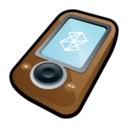128x128px size png icon of Microsoft Zune Brown