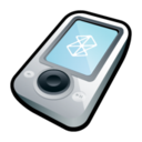 128x128px size png icon of Microsoft Zune White