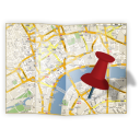 128x128px size png icon of map