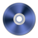 128x128px size png icon of Blue Metallic CD