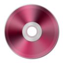 Dark Pink Metallic CD Icon