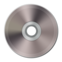 128x128px size png icon of Dark Silver CD