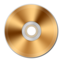 128x128px size png icon of Gold CD