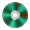 128x128px size png icon of Green Metallic CD