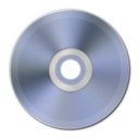 128x128px size png icon of Light Blue Metallic CD