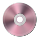 128x128px size png icon of Light Pink Metallic CD