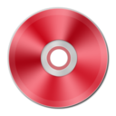 128x128px size png icon of Red Metallic CD