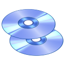 128x128px size png icon of Disks