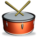 128x128px size png icon of Drum SH