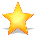 128x128px size png icon of Favourites star SH