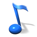 128x128px size png icon of Music note SH