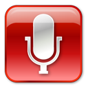 128x128px size png icon of Microphone Normal Red