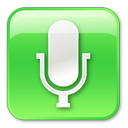 128x128px size png icon of Microphone Pressed