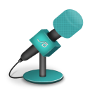 128x128px size png icon of microphone foam turquoise