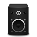 128x128px size png icon of speaker black