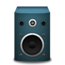 128x128px size png icon of speaker blue