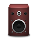 128x128px size png icon of speaker red