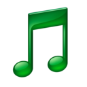 128x128px size png icon of Note green