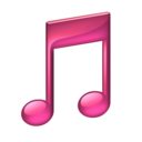 128x128px size png icon of Note pink