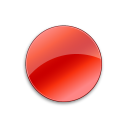128x128px size png icon of Record Normal Red