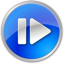 128x128px size png icon of Step Forward Normal Blue