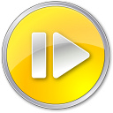 128x128px size png icon of Step Forward Normal Yellow