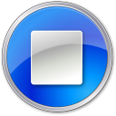 128x128px size png icon of Stop Normal Blue