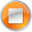 128x128px size png icon of Stop Normal Orange