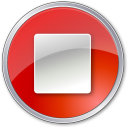128x128px size png icon of Stop Normal Red