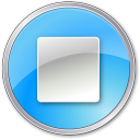 128x128px size png icon of Stop Pressed Blue
