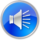 128x128px size png icon of Volume Normal Blue