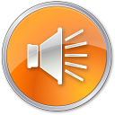 128x128px size png icon of Volume Normal Orange