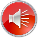 128x128px size png icon of Volume Normal Red