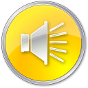 128x128px size png icon of Volume Normal Yellow