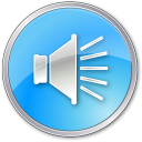 128x128px size png icon of Volume Pressed Blue