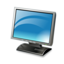 128x128px size png icon of lcd monitor
