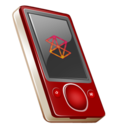 128x128px size png icon of Zune 80gb on rouge