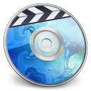 128x128px size png icon of iDVD BLUE Smoke