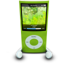 128x128px size png icon of iPodPhonesGreen